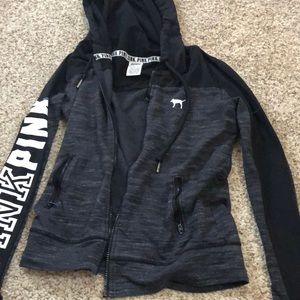 Vs pink black and grey hoodie